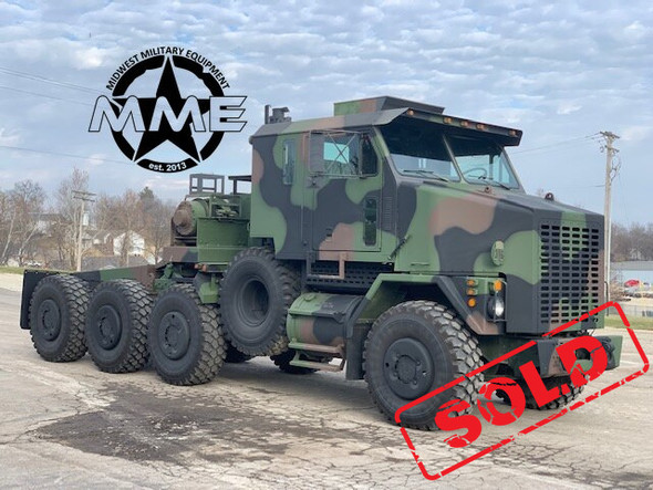 1993 Oshkosh M1070 HET 8x8 Military Heavy Haul Semi Tractor Truck