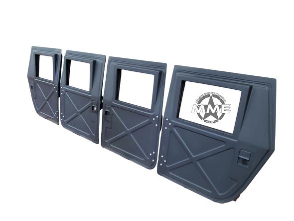 MANUAL CRANK WINDOWS WITH POWER LOCKS X-DOOR PATTERN (SET OF 4) FOR HMMWV/HUMVEE/HUMMER/H1
