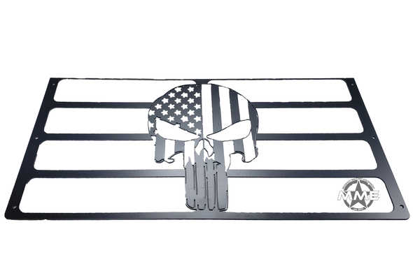 Custom American Flag Punisher Grille Insert For M939 Series Truck