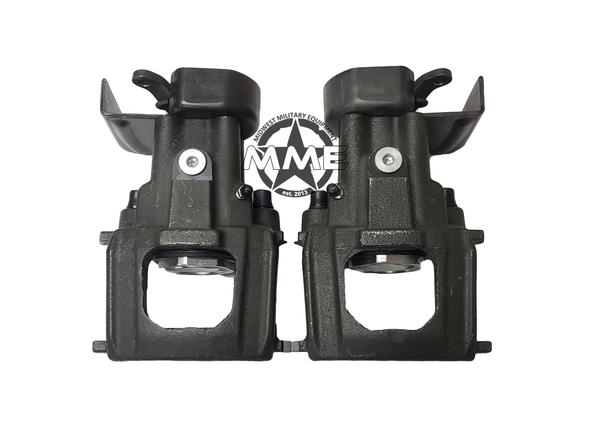 Pair of Replacement Rear Brake Calipers With Parking Brake Bracket