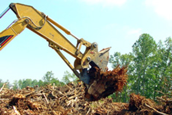 Excavator Wood Stump Shears