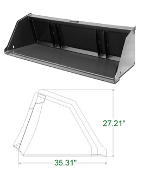 Skid Steer Snow & Litter Buckets