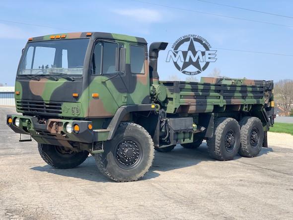 2004 STEWART & STEVENSON M1084A1 6X6 5 TON TRUCK W/ REAR MATERIAL HANDLING CRANE
