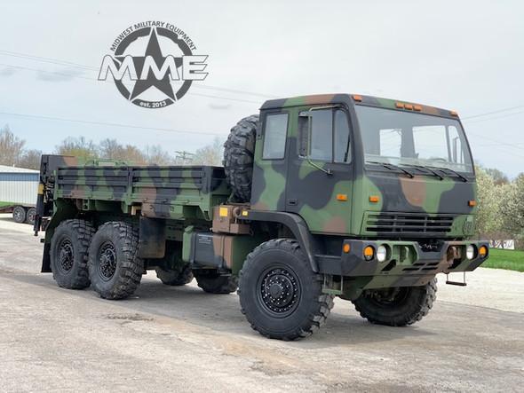 2004 STEWART & STEVENSON M1084A1 6X6 5 TON Cargo TRUCK W/ REAR MATERIAL HANDLING CRANE