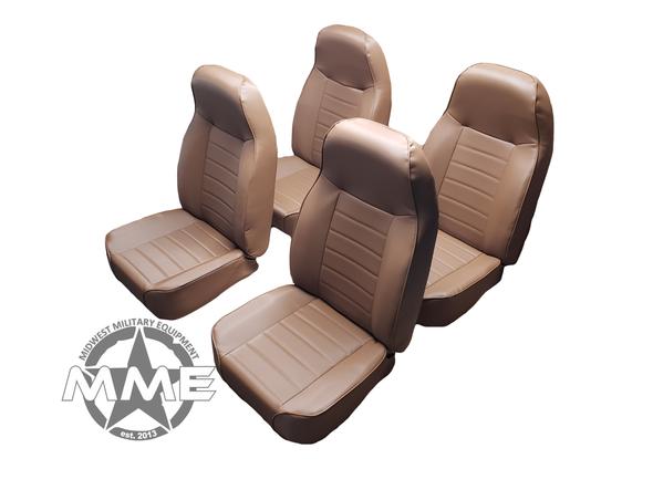 Dark Brown Bucket Seats (Set of 4)