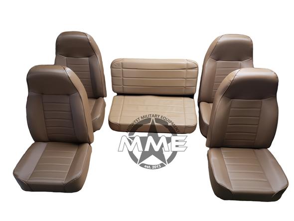 Dark Brown Bucket Seats (Includes Bench Seat)