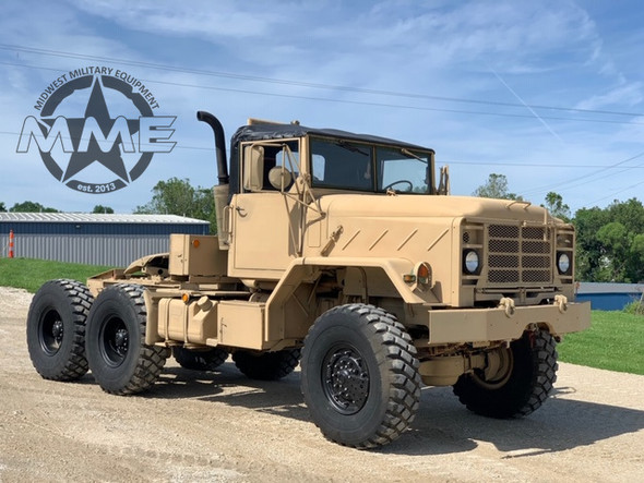 1991 BMY M931A2 6x6 Tractor Truck W/ New Black Soft Top