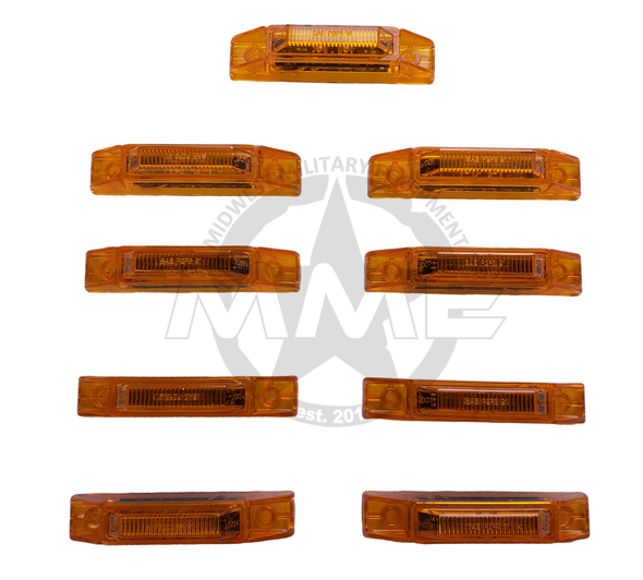 LED AMBER SIDE MARKER LIGHT KIT FOR MTVR OSHKOSH MK23