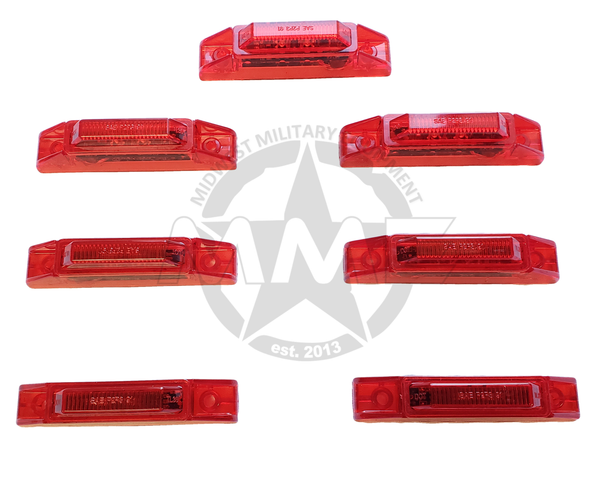 LED RED SIDE MARKER LIGHT KIT FOR MTVR OSHKOSH MK23