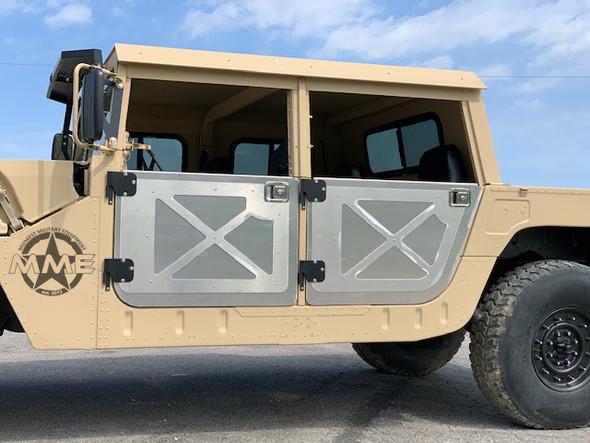 "1/8"" ALUMINUM 4 Man half Door Kit For HMMWV HUMVEE HUMMER H1 MILITARY M998(Set of 4)"