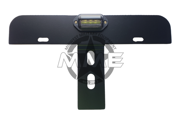 Airlift Bumper Licence Plate Mounting Bracket for HMMWV/HUMVEE