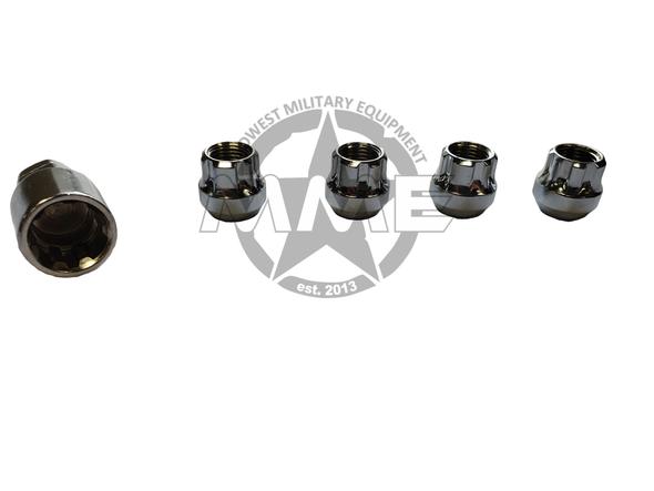 Locking Lug nuts for HMMWV/HUMVEE (SET OF 4)