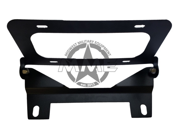 Unilluminated Flip-Up Licence Plate Bracket for Winch Fairlead