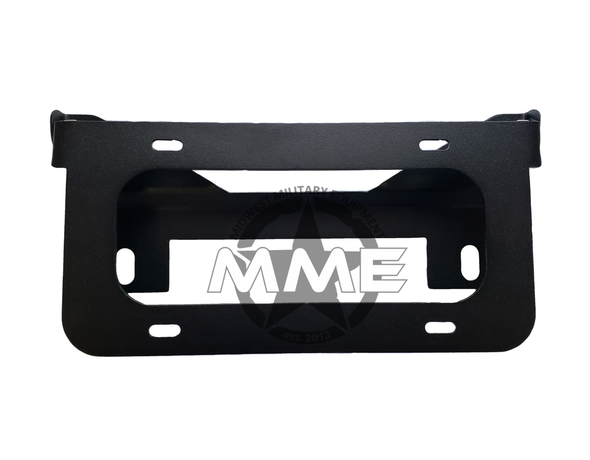 Unilluminated Flip-Up License Plate Bracket for Winch Fairlead