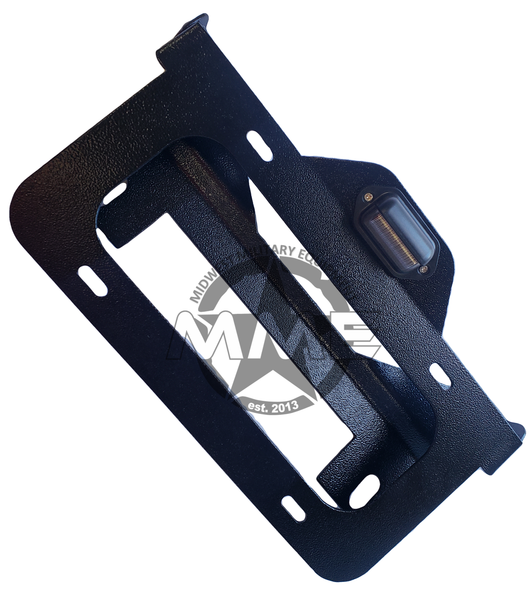 Illuminated Flip-Up License Plate Bracket for Winch Fairlead