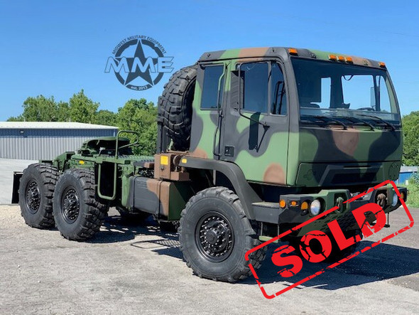 2004 Stewart & Stevenson M1088A1 5 Ton 6x6 Military Semi Truck