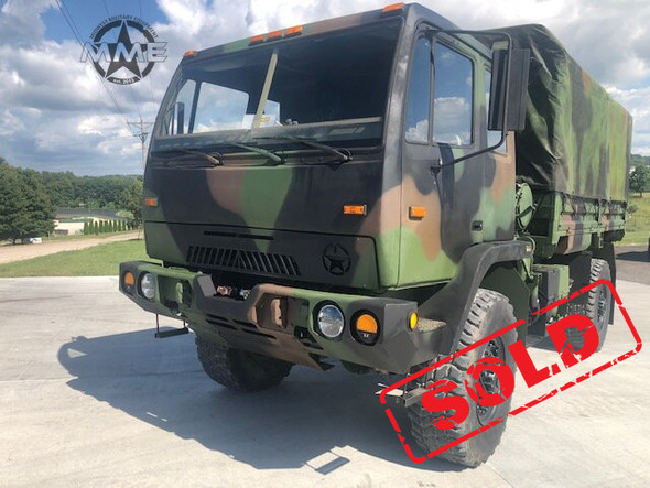 1998 Stewart&Stevenson M1078 4X4 2 1/2 Ton Cargo Truck W/Winch