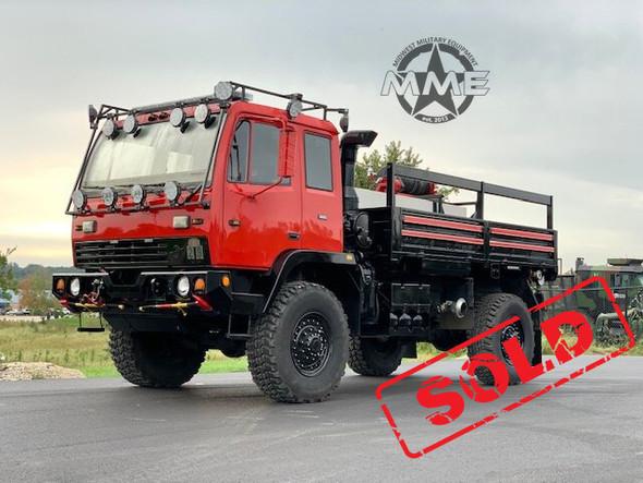 1998 M1078 Stewart & Stevenson 4X4 2 1/2 Ton Cargo Brush Fire Truck W/Winch