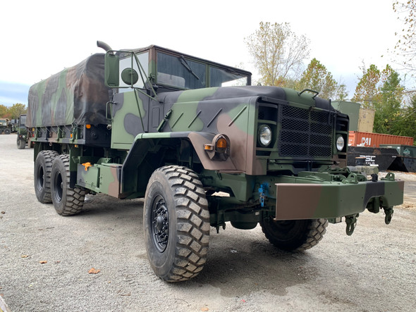 1990 BMY M925A2 5 TON MILITARY 6 X 6 Cargo TRUCK WITH WINCH