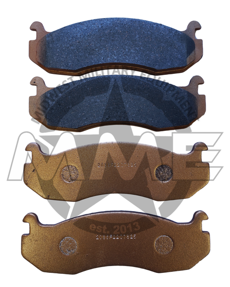 Replacement Set of 4 Brake Pads for A2 HMMWV