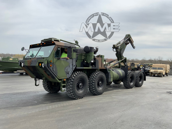 2006 M1120A2 Oshkosh HEMTT 8X8 Truck With LHS Hook Lift System W/AC