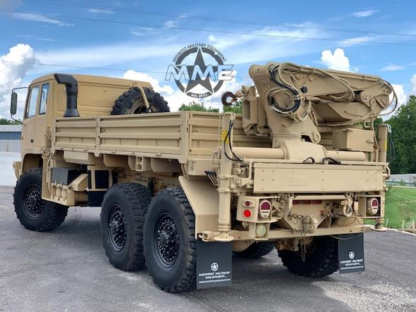 2004 STEWART & STEVENSON M1084A1 6X6 5 TON Cargo TRUCK W/ REAR Hiab MATERIAL HANDLING CRANE