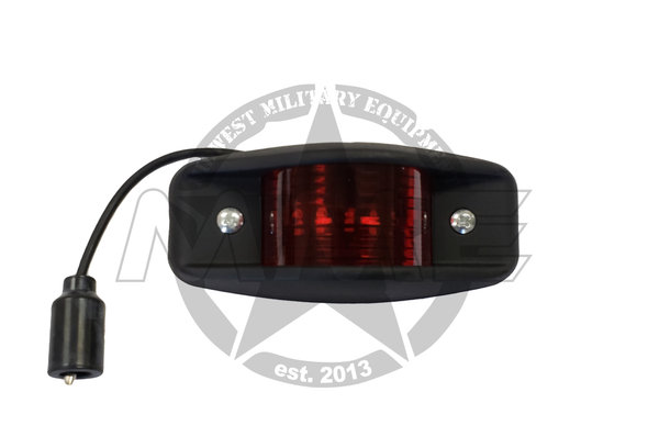 Replacement LED Red Side Marker Light (Black)