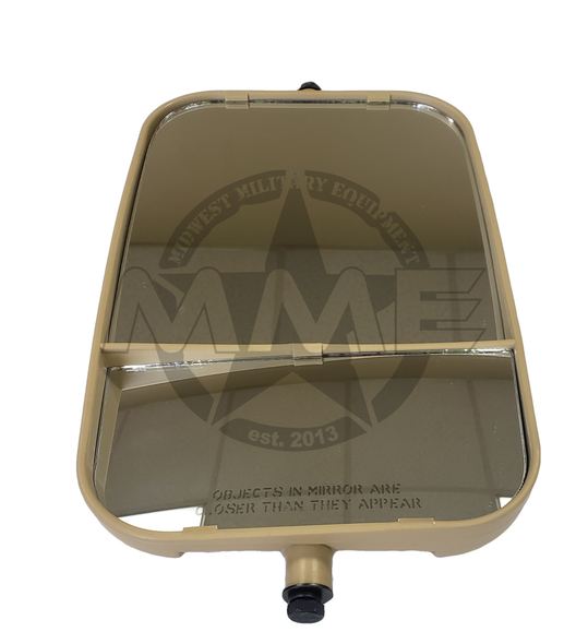 Replacement LH Dual Mirror Head for HMMWV Humvee (TAN)