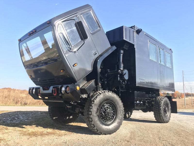 SOLD M1079 Stewart & Stevenson 4x4 2 1/2 Ton Camper Truck