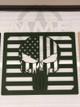 Custom American Flag Punisher Grille Insert For HMMWV / Humvee Hood