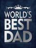 Best Dad Silver Poster Print by Stephanie Marrott - Item # VARPDXSM15604