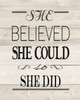 She Believed Wood Vintage Poster Print by  Jo Moulton - Item # VARPDXJM12460