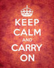 Keep Calm and Carry On - Vintage Red Poster Print by The British Ministry of Information - Item # VARPDX371964