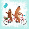 Bicycle Built For Bears Poster Print by Lings Workshop - Item # VARPDX553LIN1047