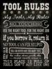 Tool Rules - Black Poster Print by Stephanie Marrott - Item # VARPDXSM10750