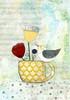 Bird on a Yellow Cup Poster Print by Sarah Ogren - Item # VARPDXSO1042