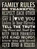 Family Rules - Black Poster Print by Stephanie Marrott - Item # VARPDXSM10370