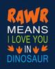Dinosaur Rawr Quote Poster Print by  Tamara Robinson - Item # VARPDXTR1832