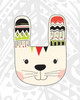 Tribal Bunnies Poster Print by  Tamara Robinson - Item # VARPDXTR1795