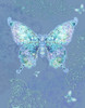 Blue Butterfly Floral Poster Print by Alixandra Mullins - Item # VARMGL601158