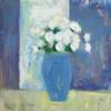 Ranunculi in Blue Vase White Flowers Poster Print by Michael Clark - Item # VARPDX27985