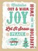 Holiday Words Tan Poster Print by Teresa Woo - Item # VARPDXWOO138