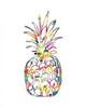 Electric Pineapple Poster Print by Linda Woods - Item # VARPDXLW3195
