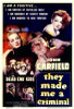 They Made Me a Criminal Movie Poster Print (27 x 40) - Item # MOVIF7176