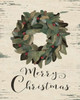 Merry Christmas Wreath Poster Print by Jo Moulton - Item # VARPDXJM12589
