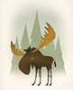 Forest Moose Poster Print by Ryan Fowler - Item # VARPDX28227