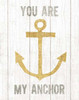Beachscape III Anchor Quote Gold Neutral Poster Print by Michael Mullan - Item # VARPDX23140