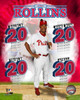 Jimmy Rollins - 20's Portrait Plus  Note: formerly assigned to Franklin Morales Game 4 2007 NL Champ Series now AAJA76 Photo Print - Item # VARPFSAAIW081