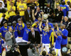 The Golden State Warriors celebrate winning Game 7 of the 2016 Western Conference Finals Photo Print - Item # VARPFSAATB050