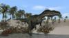 Monolophosaurus walking along shallow water Poster Print - Item # VARPSTKVA600163P